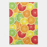 Pattern with citrus fruits towel