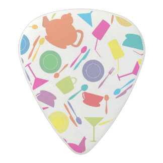 Pattern With Colored Kitchen Stuff Acetal Guitar Pick