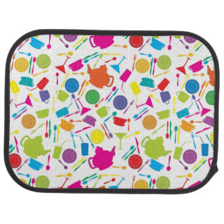 Pattern With Colored Kitchen Stuff Car Mat