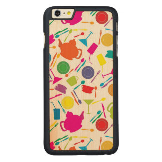 Pattern With Colored Kitchen Stuff Carved Maple iPhone 6 Plus Slim Case