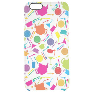 Pattern With Colored Kitchen Stuff Clear iPhone 6 Plus Case