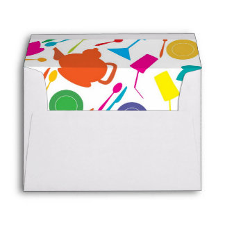 Pattern With Colored Kitchen Stuff Envelope