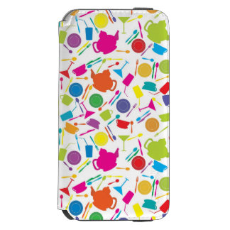 Pattern With Colored Kitchen Stuff iPhone 6/6s Wallet Case