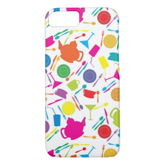 Pattern With Colored Kitchen Stuff iPhone 8/7 Case