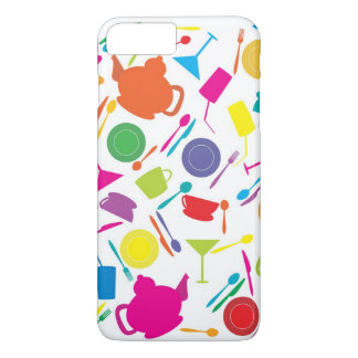 Pattern With Colored Kitchen Stuff iPhone 8 Plus/7 Plus Case