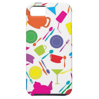 Pattern With Colored Kitchen Stuff iPhone SE/5/5s Case
