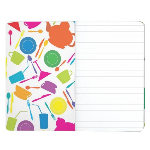 Pattern With Colored Kitchen Stuff Journals