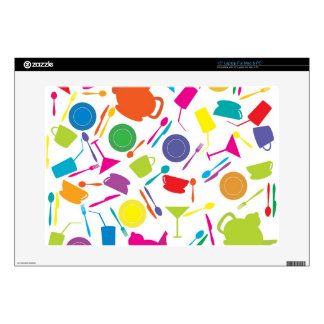Pattern With Colored Kitchen Stuff Laptop Decals