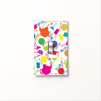 Pattern With Colored Kitchen Stuff Light Switch Cover