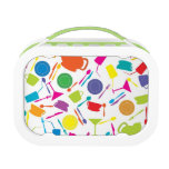 Pattern With Colored Kitchen Stuff Lunch Box