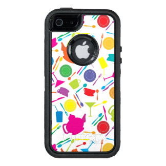 Pattern With Colored Kitchen Stuff OtterBox Defender iPhone Case