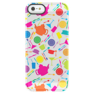 Pattern With Colored Kitchen Stuff Permafrost iPhone SE/5/5s Case