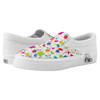 Pattern With Colored Kitchen Stuff Slip-On Sneakers