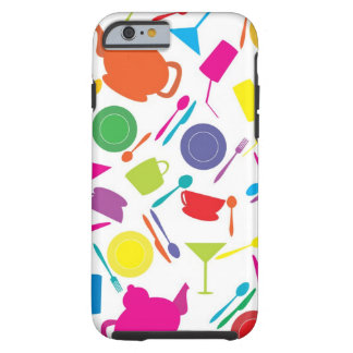 Pattern With Colored Kitchen Stuff Tough iPhone 6 Case