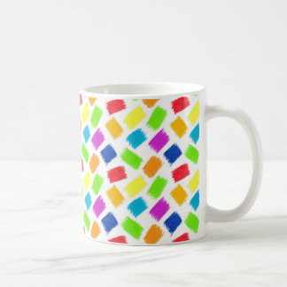 Pattern with colored spots of pastel crayon coffee mug