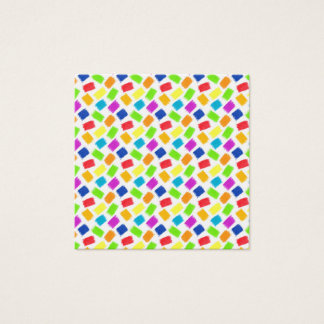 Pattern with colored spots of pastel crayon square business card