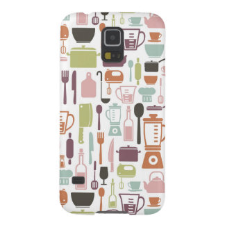 Pattern with colorful cooking icons galaxy s5 case