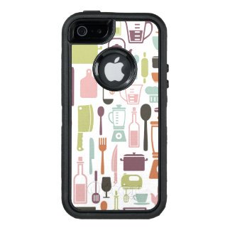 Pattern with colorful cooking icons OtterBox iPhone 5/5s/SE case