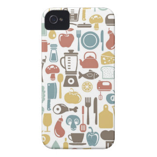 Pattern with cooking icons iPhone 4 covers