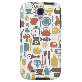 Pattern with cooking icons galaxy s4 case
