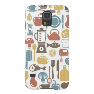 Pattern with cooking icons galaxy s5 case
