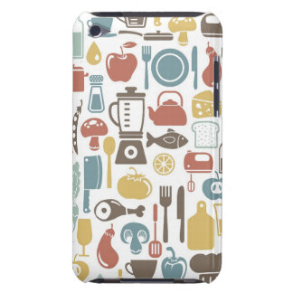 Pattern with cooking icons iPod Case-Mate case