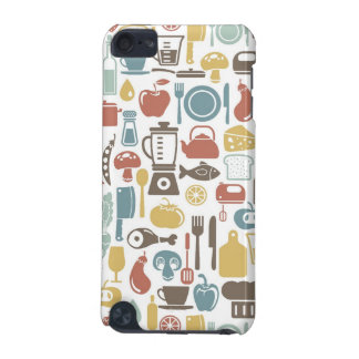 Pattern with cooking icons iPod touch (5th generation) cover