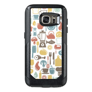 Pattern with cooking icons OtterBox samsung galaxy s7 case
