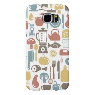 Pattern with cooking icons samsung galaxy s6 case