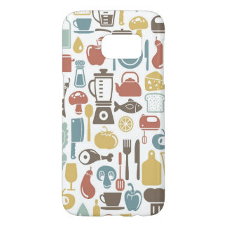 Pattern with cooking icons samsung galaxy s7 case