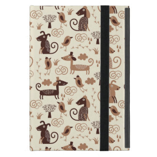 pattern with cute dogs iPad mini covers