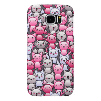 pattern with cute kawaii doodle cats 2 samsung galaxy s6 case