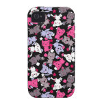 pattern with cute kawaii doodle cats 3 Case-Mate iPhone 4 case