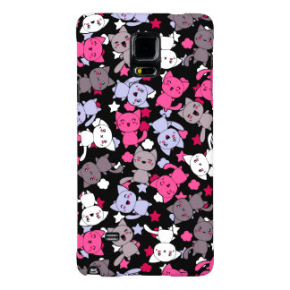 pattern with cute kawaii doodle cats 3 galaxy note 4 case