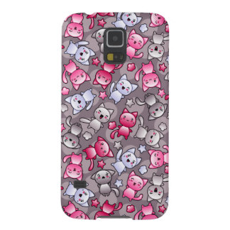 pattern with cute kawaii doodle cats galaxy s5 case