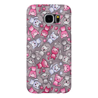 pattern with cute kawaii doodle cats samsung galaxy s6 case
