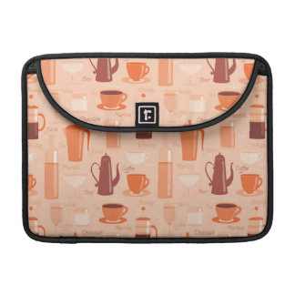Pattern with drinks and text sleeve for MacBook pro