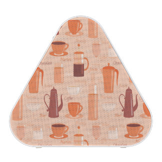 Pattern with drinks and text speaker