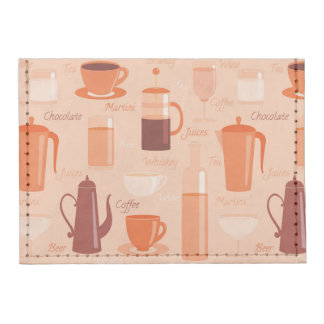 Pattern with drinks and text tyvek® card case wallet