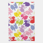 pattern with Easter rabbits Hand Towel
