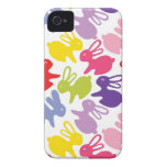 pattern with Easter rabbits iPhone 4 Case-Mate Case
