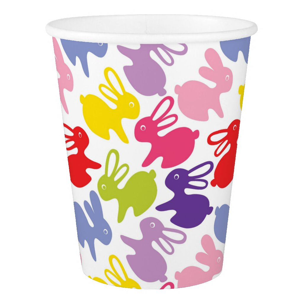 pattern with Easter rabbits Paper Cup