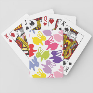 pattern with Easter rabbits Poker Deck