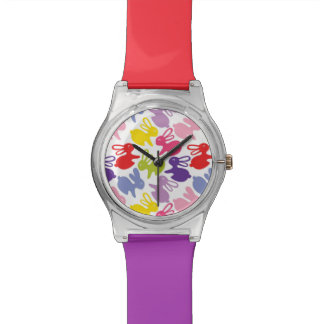 pattern with Easter rabbits Wrist Watch
