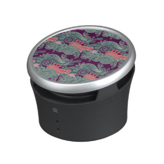 Pattern With Fish And Purple Wave Speaker