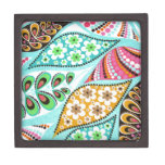 pattern with flowers premium trinket boxes