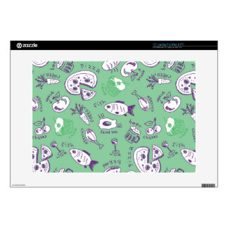 """Pattern with Food 15"""" Laptop Decal"""