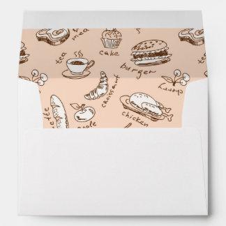 Pattern With Food Envelope