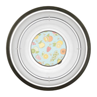 Pattern With Fruits And Berries Bowl