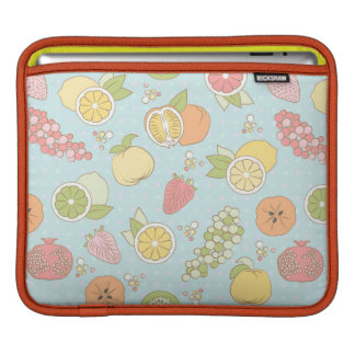 Pattern With Fruits And Berries Sleeve For iPads